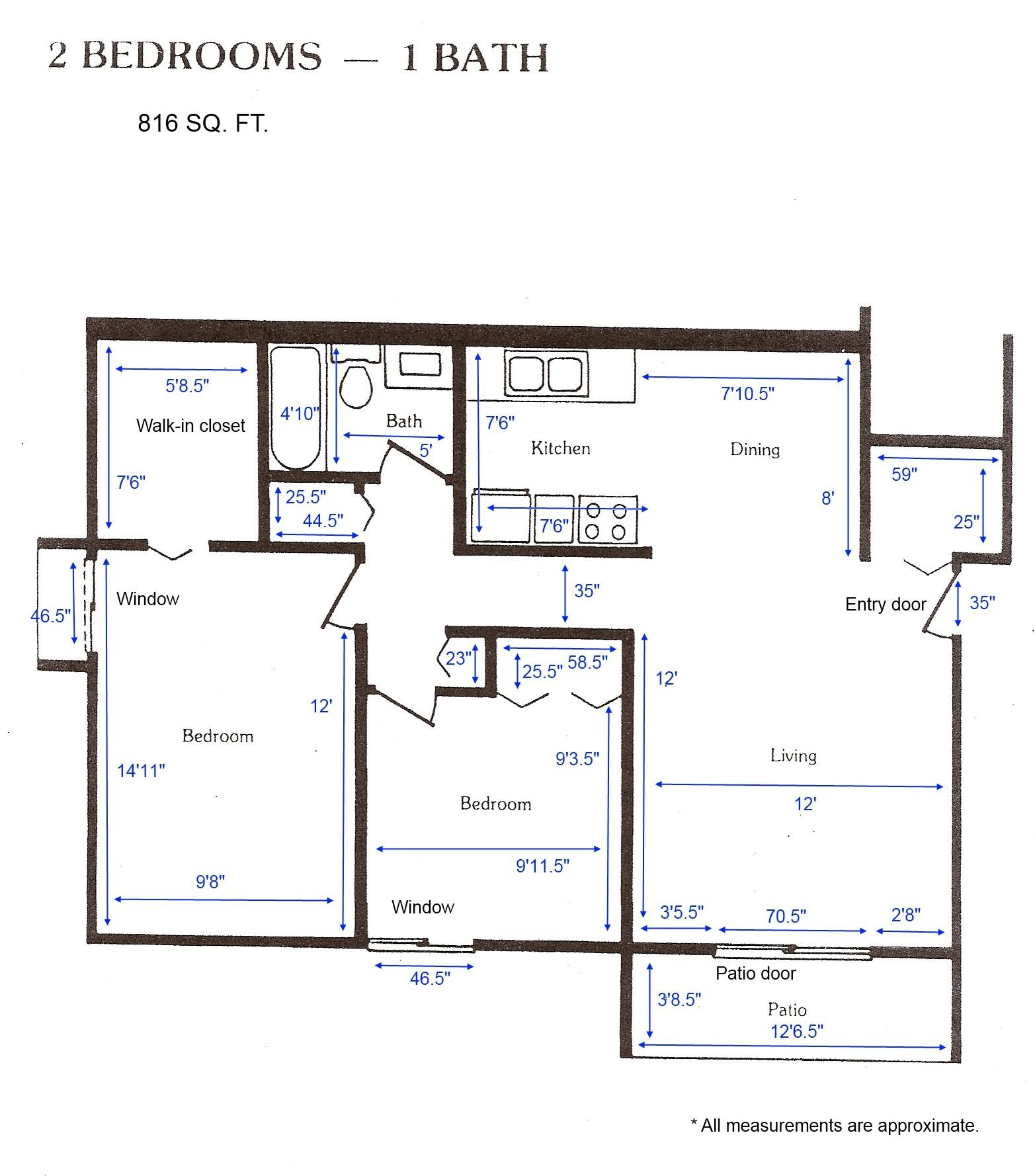 Apartment Layout: Cedar Green Apartments